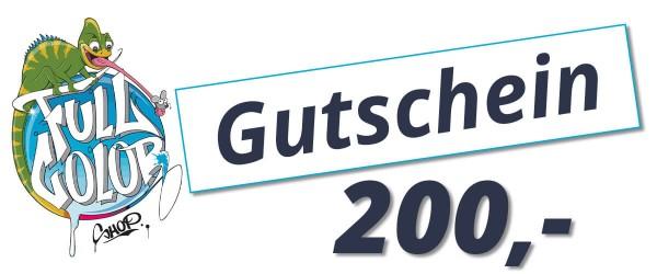 Full Color Shop Gutschein für Laden 200,-